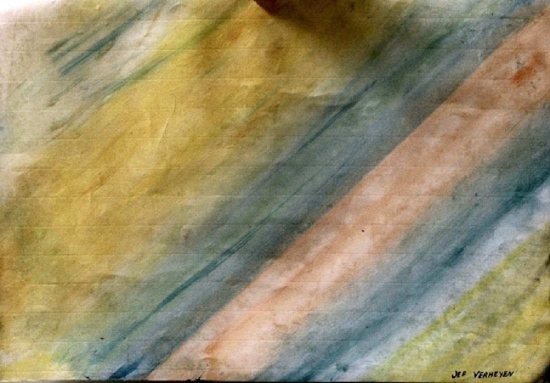 Jef Verheyen - Oil On Paper