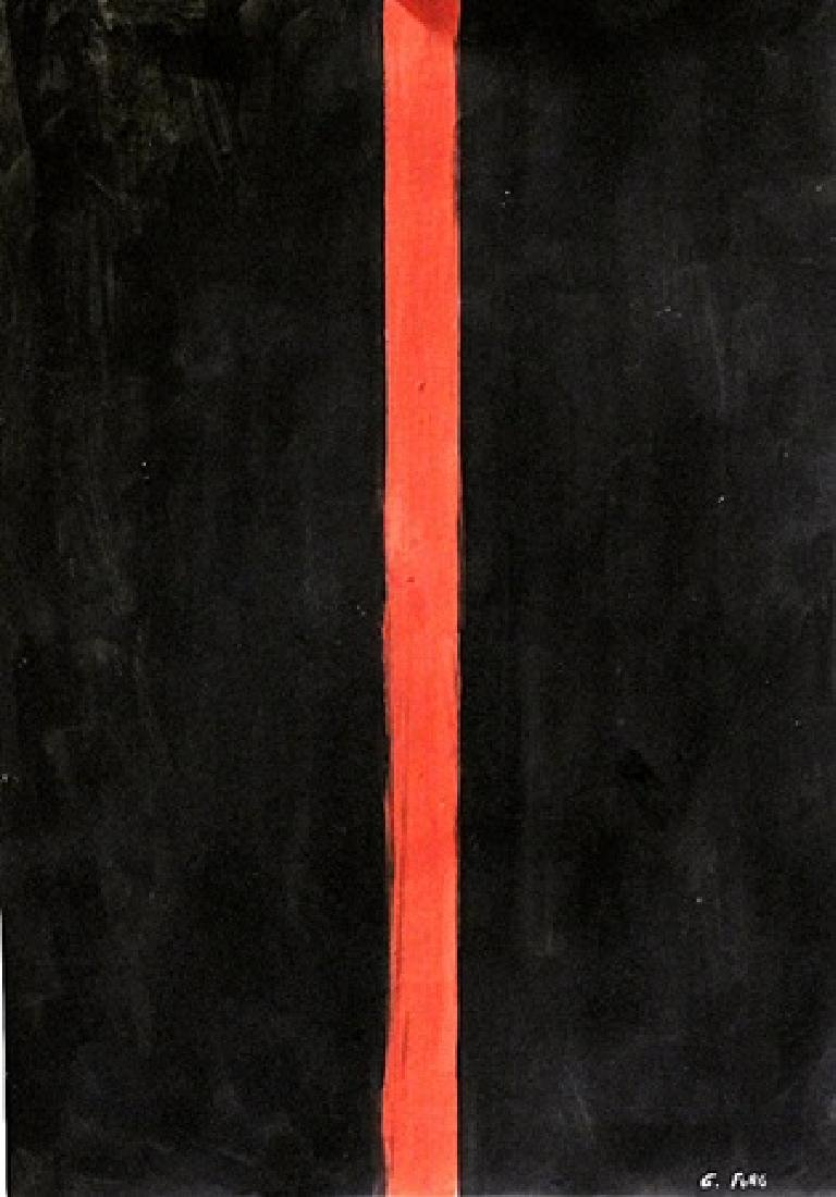 Red Line - Gunther Forg - Oil On Paper