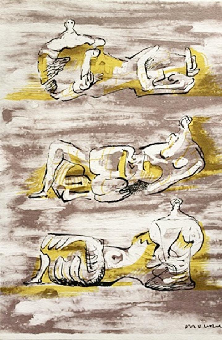 Henry Moore Signed Lithograph 153