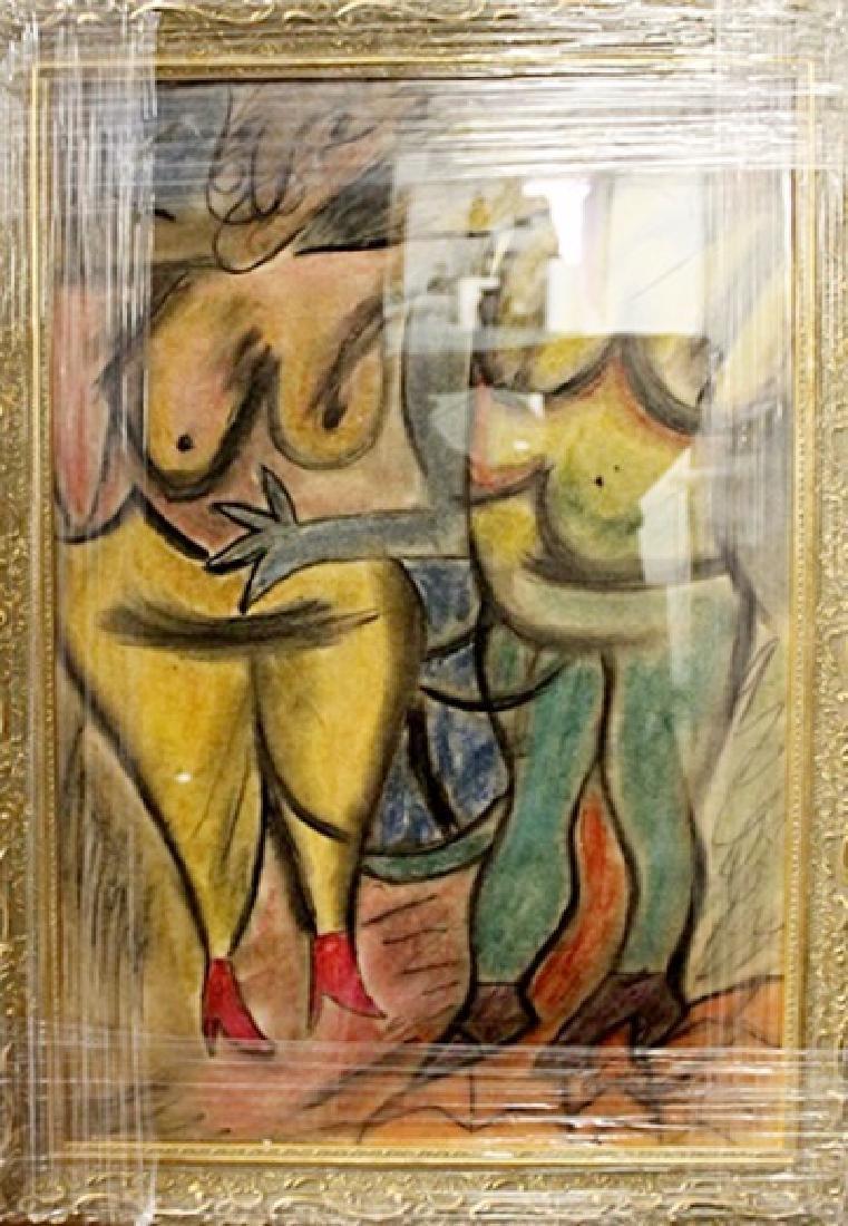 Willem De Kooning - Two Woman I - Pastel on paper