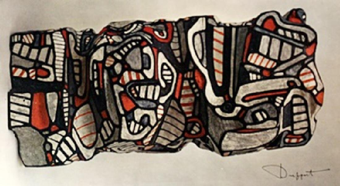 Jean Dubuffet Signed Lithograph 202