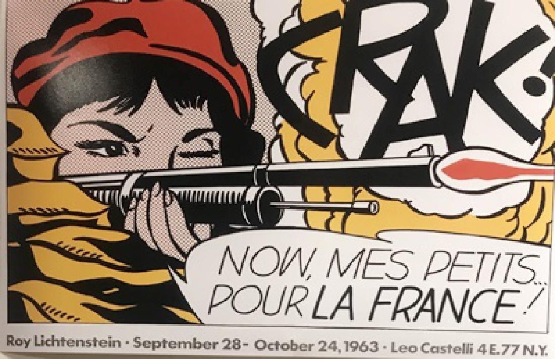 Roy Lichtenstein Lithograph - Crak! Now Mes