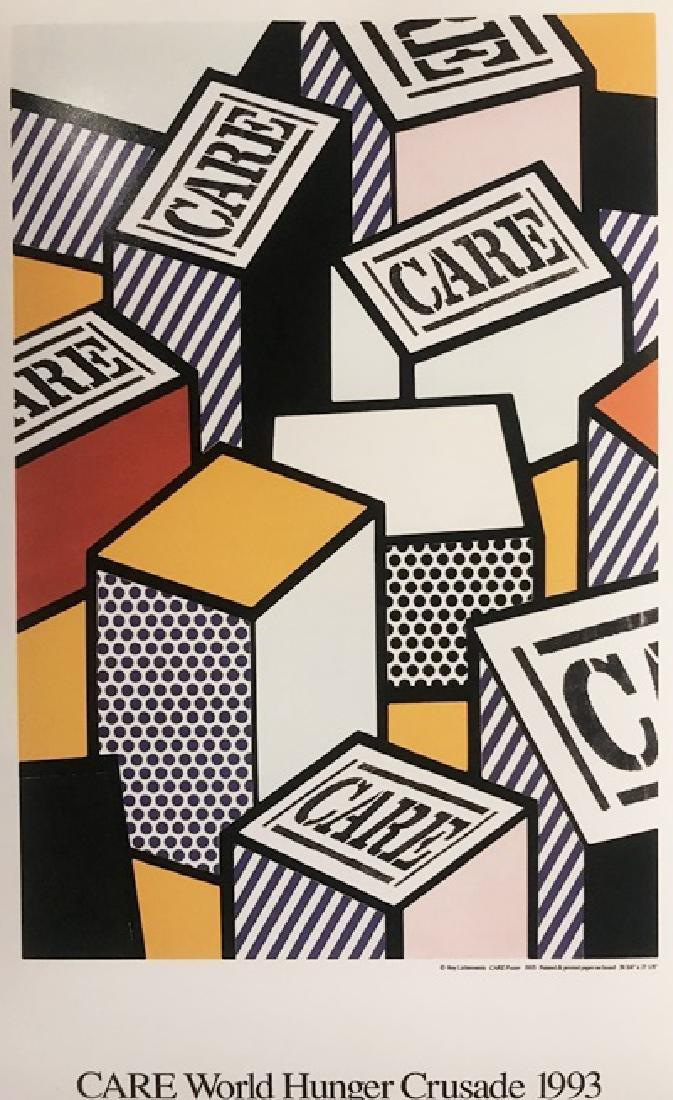 Roy Lichtenstein Lithograph - CARE World Hunger Crusade