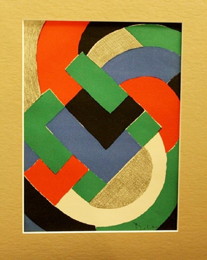 Sonia Delaunay Signed Lithograph 352