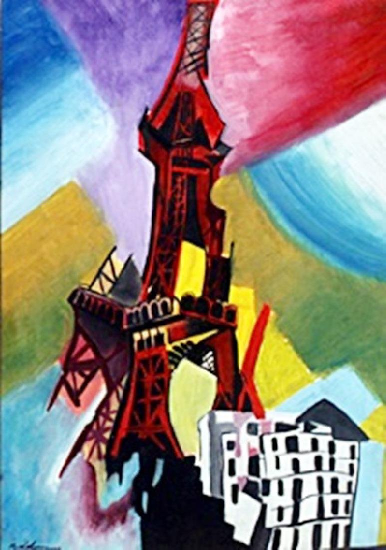 Eiffel Tower - Oil on Paper - Robert Delaunay