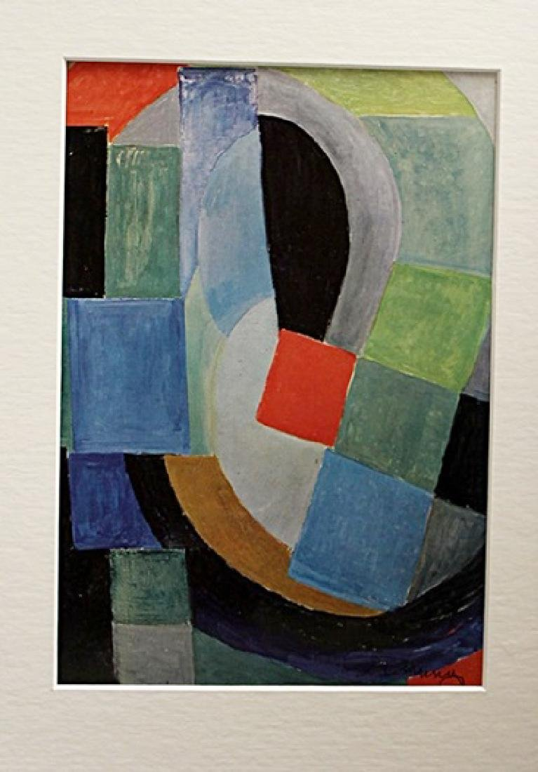 Sonia Delaunay Signed Lithograph 131