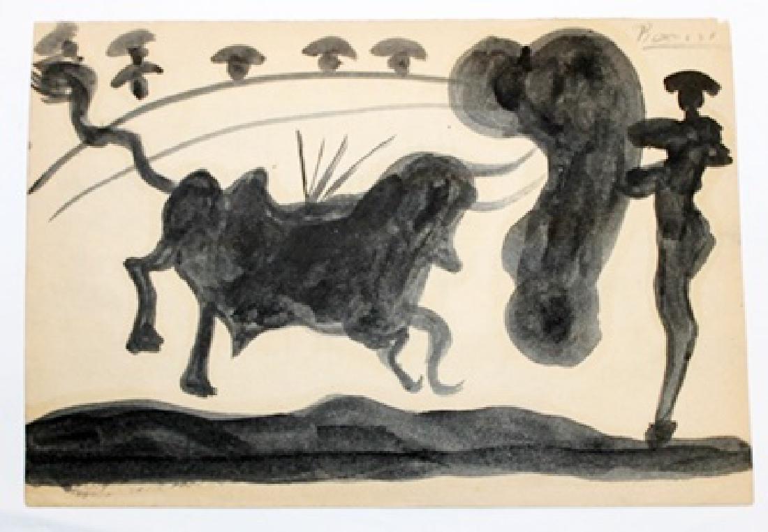 Pablo Picasso - El Picador VI - Oil On Paper