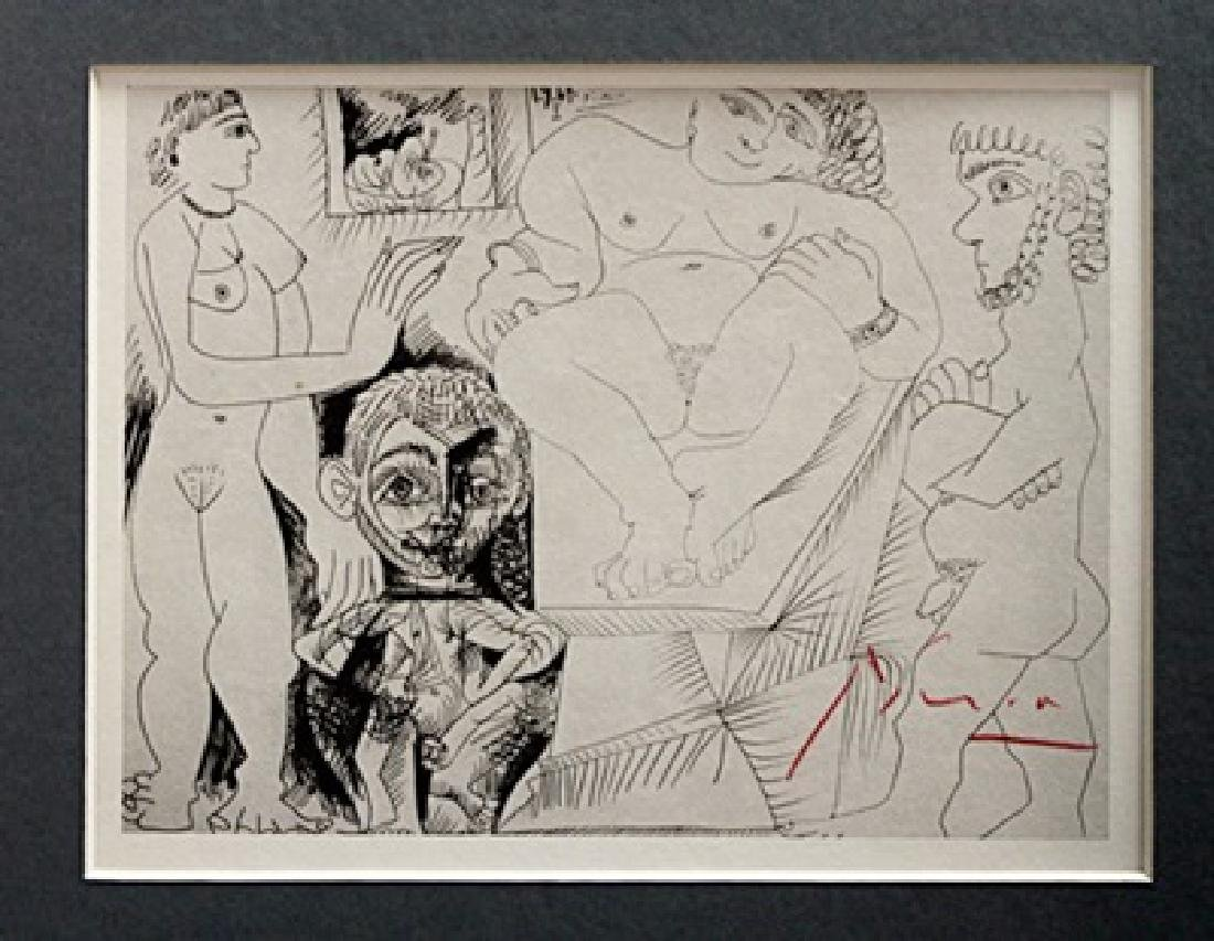 Pablo Picasso Signed Lithograph 62