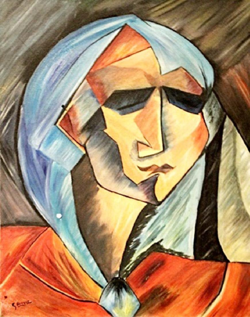 Georges Braque - Head Of A Woman - Oil on paper