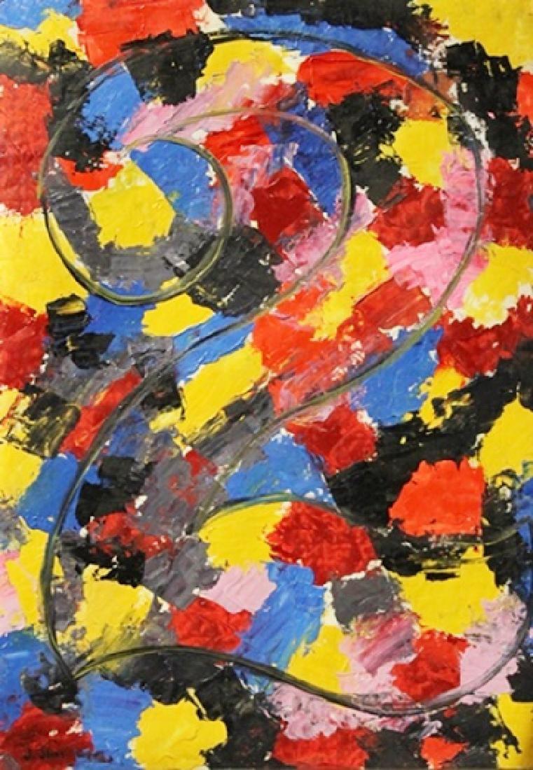 2 - Jasper Johns - Oil On Paper