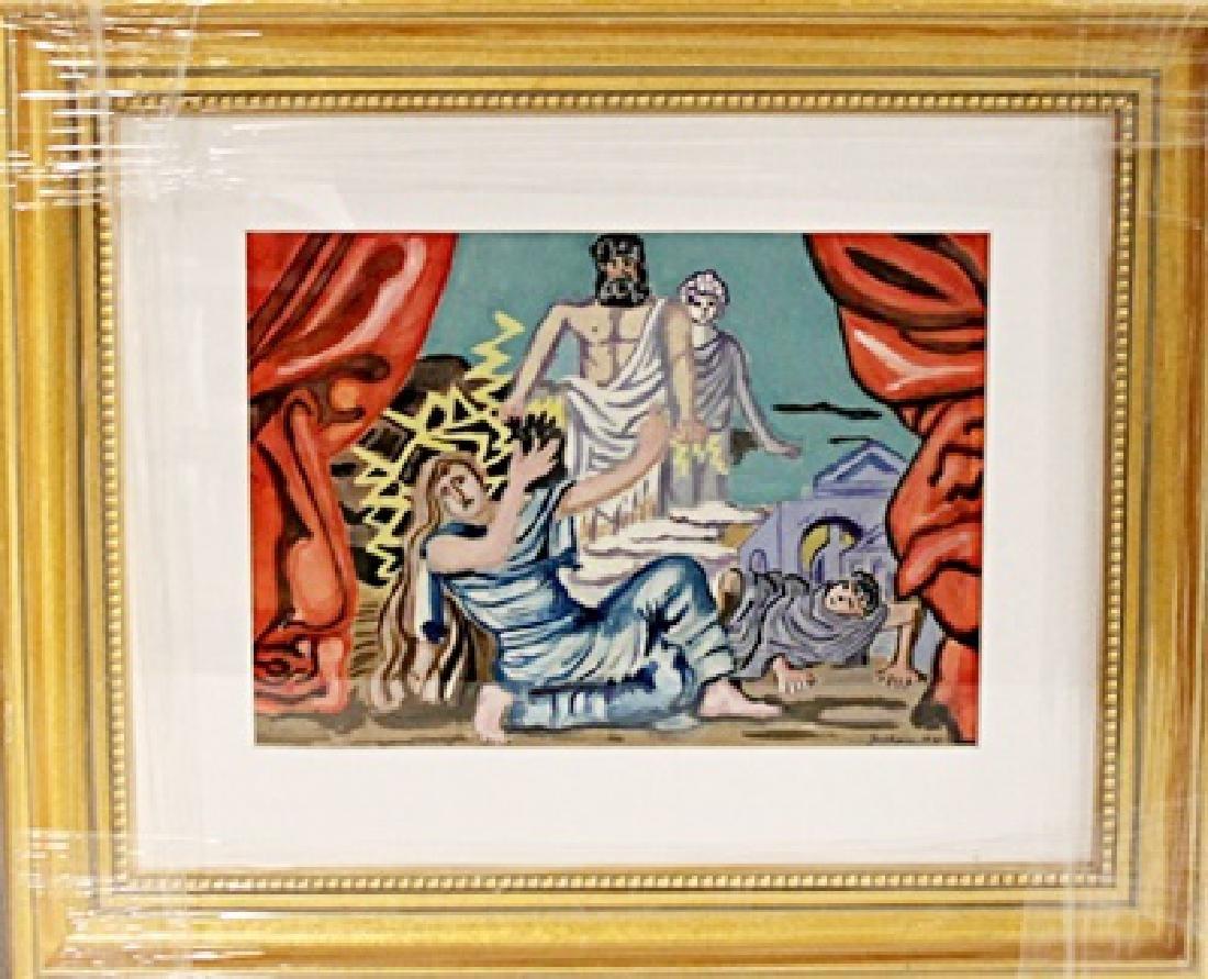 Giorgio De Chirico  - Oil on paper