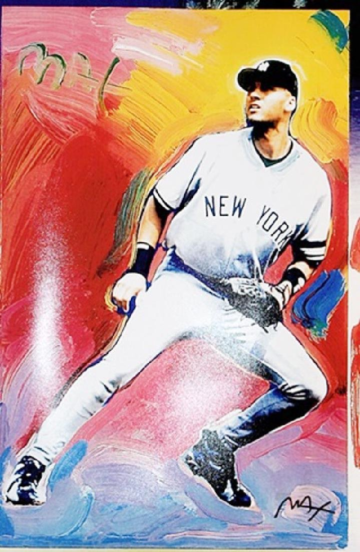 Peter Max Signed Lithograph - 1997 Topps DEREK JETER