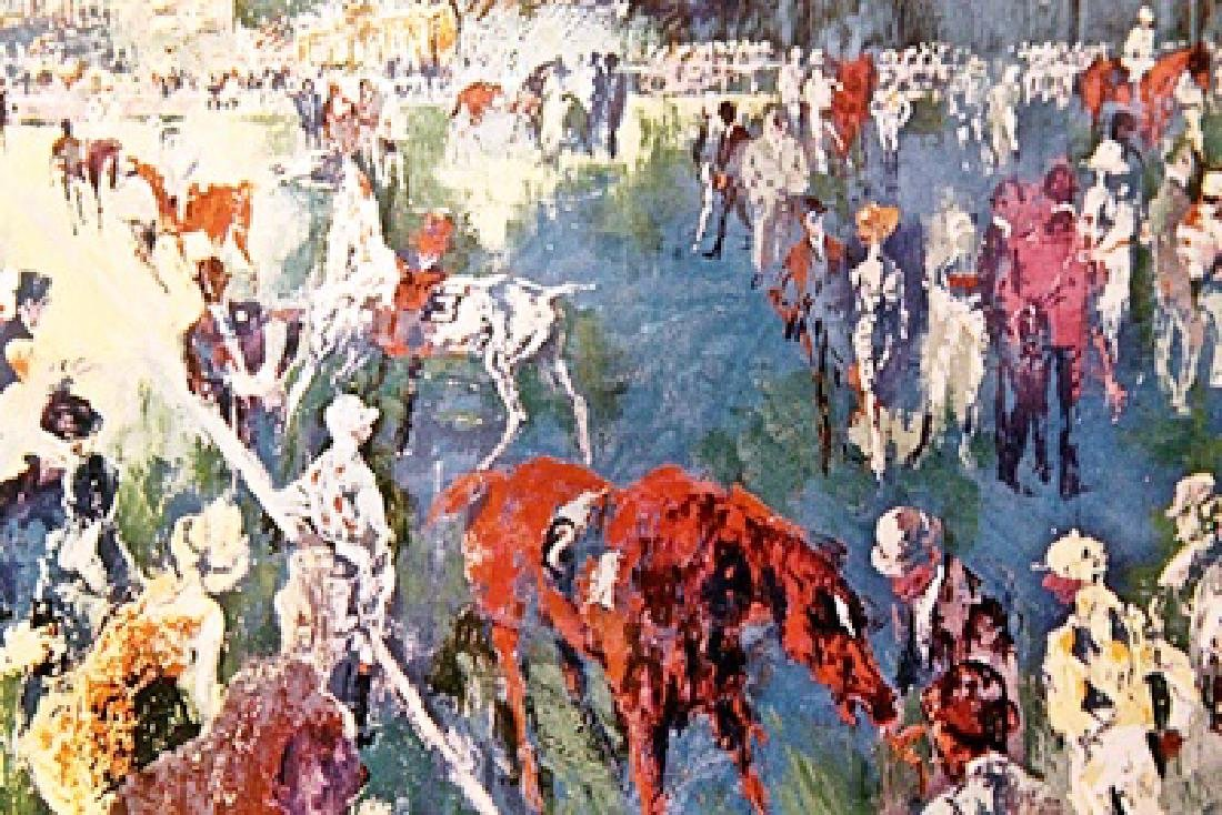 Paddock at Chantilly - LeRoy Neiman - Double Signed