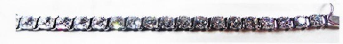 Ladys silver lab zircon bracelet