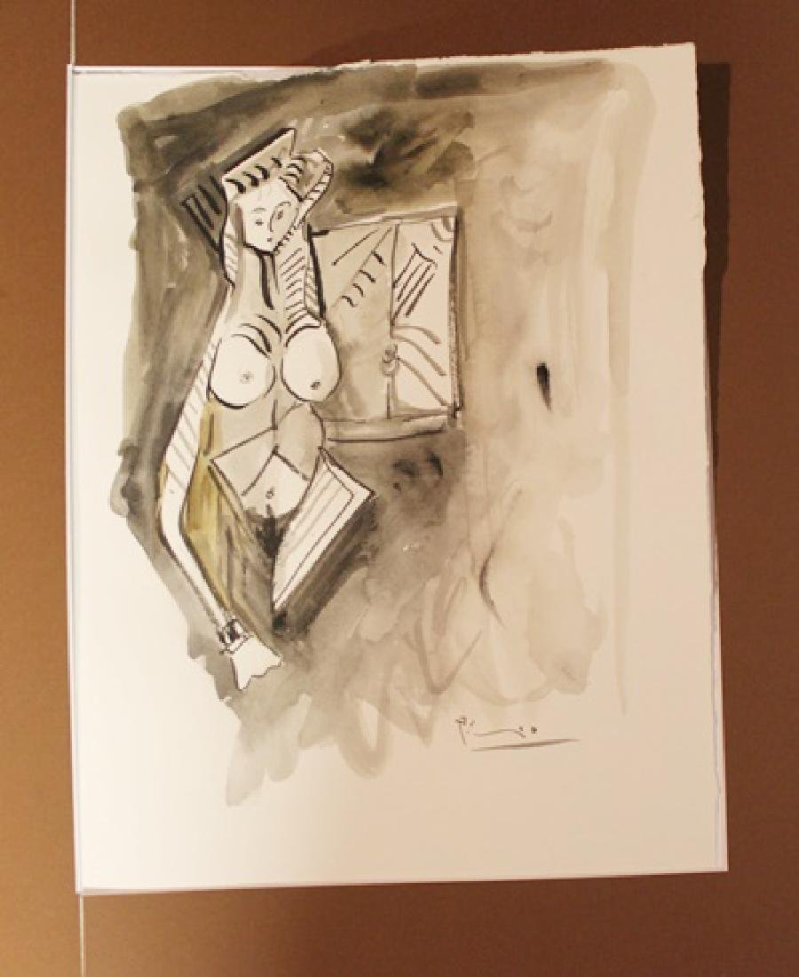 Pablo Picasso Signed Watercolor 414