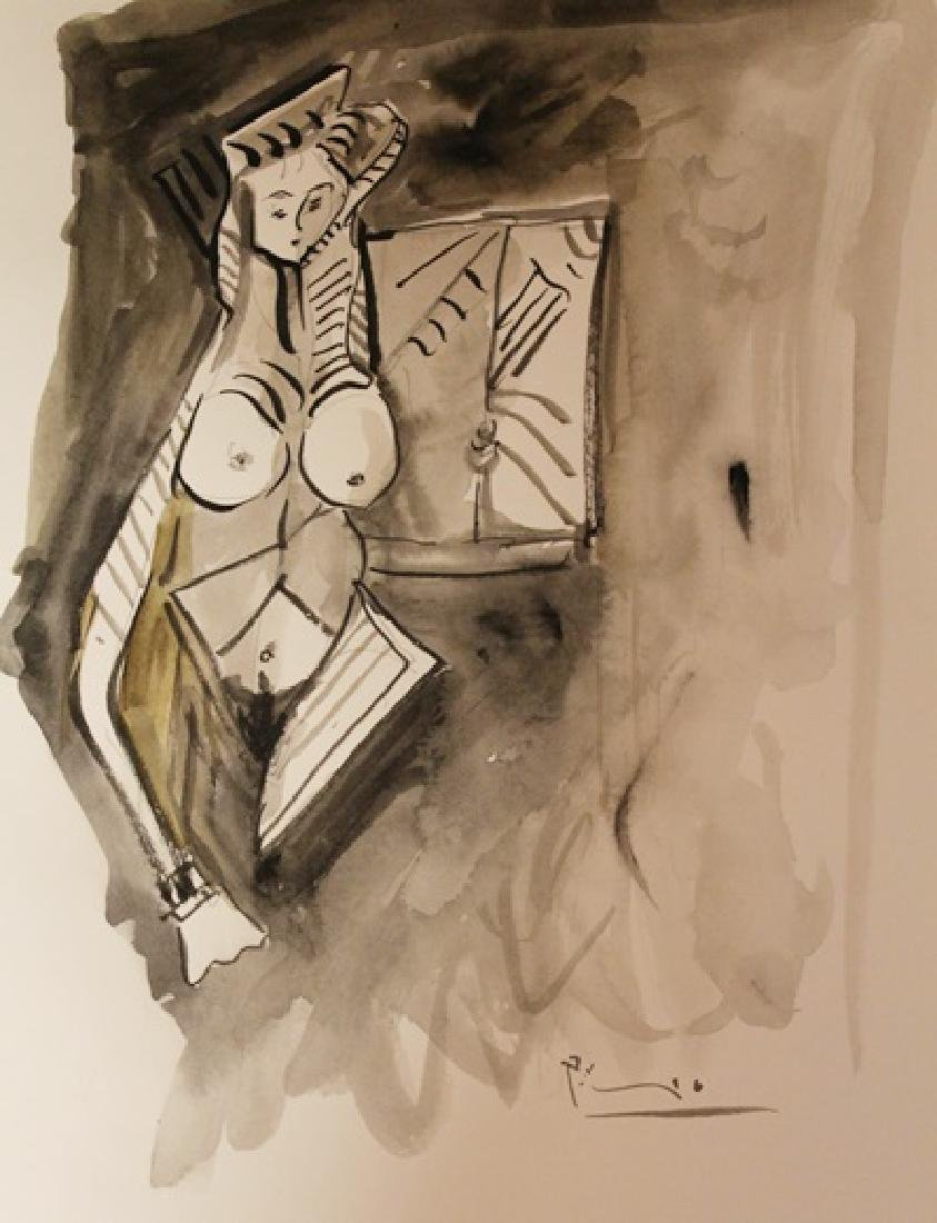 Pablo Picasso Signed Watercolor 414 - 2