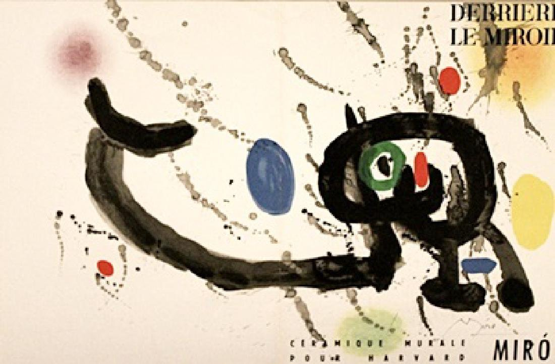 Joan Miro Signed Lithograph 406