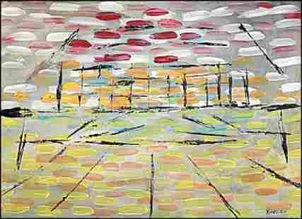 My House - Arthur Pinajian - Oil On Paper