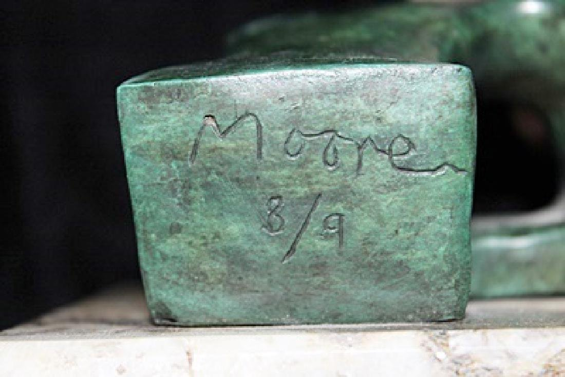 Signed Limited Edition Bronze Moore - 3
