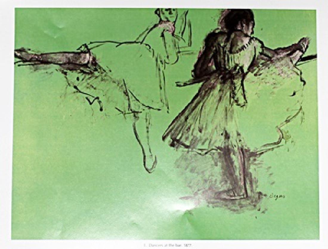 Edgar Degas Color Lithograph Drawing