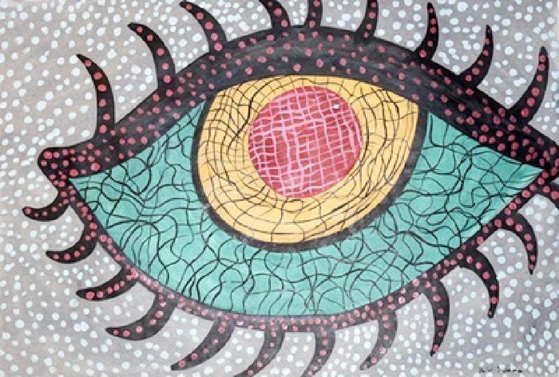 My Eye - Yayoi Kusama - Oil On Paper