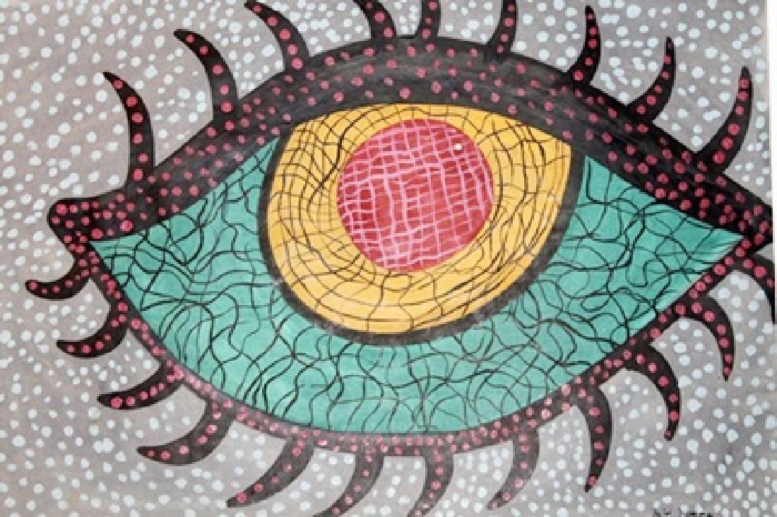 My Eye - Yayoi Kusama - Oil On Paper - 2