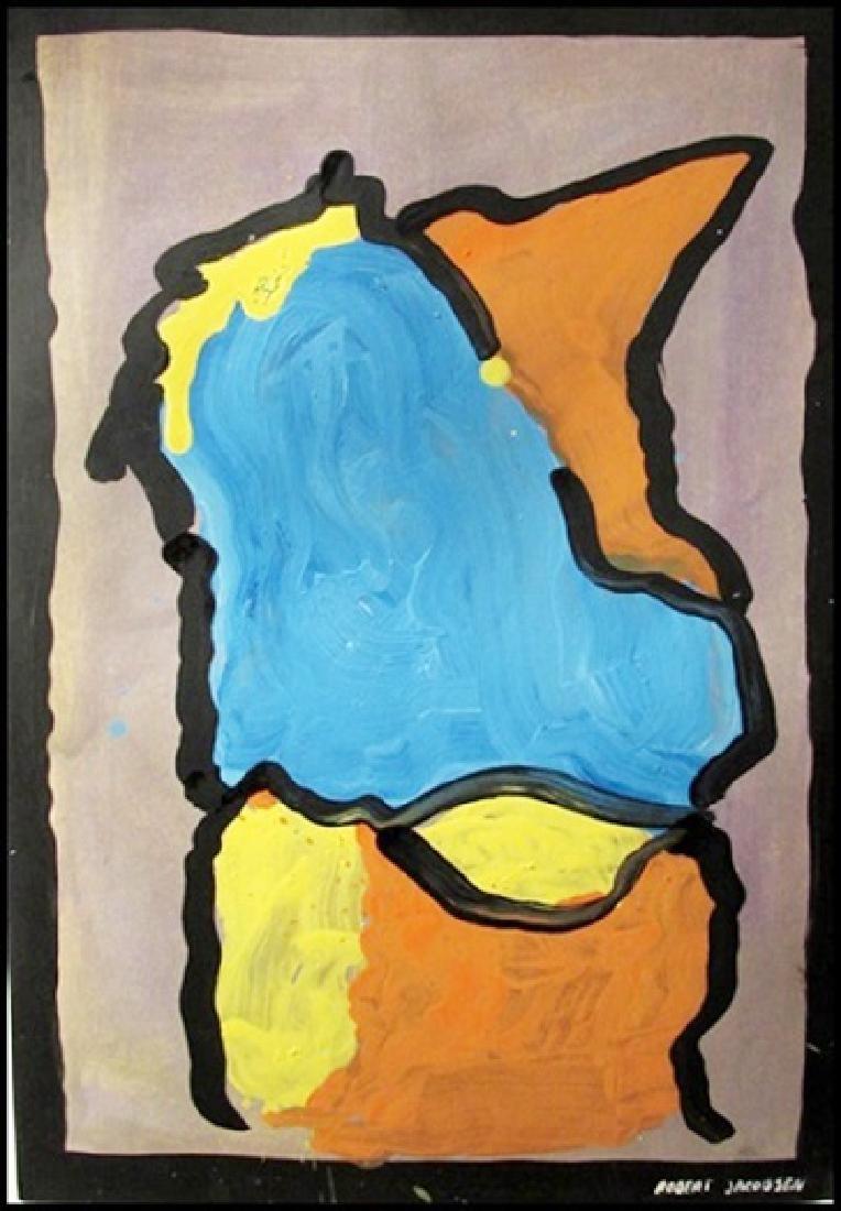 Robert Jacobsen - Oil On Paper
