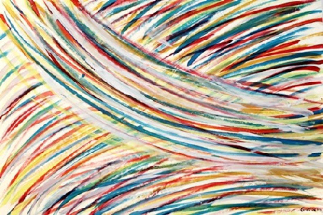 The River - Mark Grotjahn - Oil On Paper