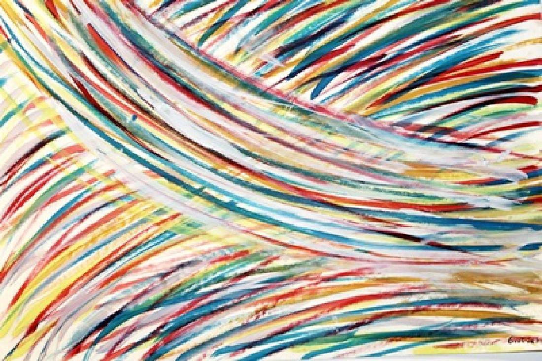 The River - Mark Grotjahn - Oil On Paper - 2