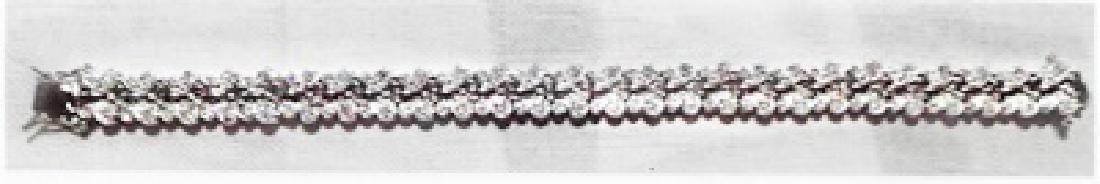 Ladys silver lab white zircon bracelet