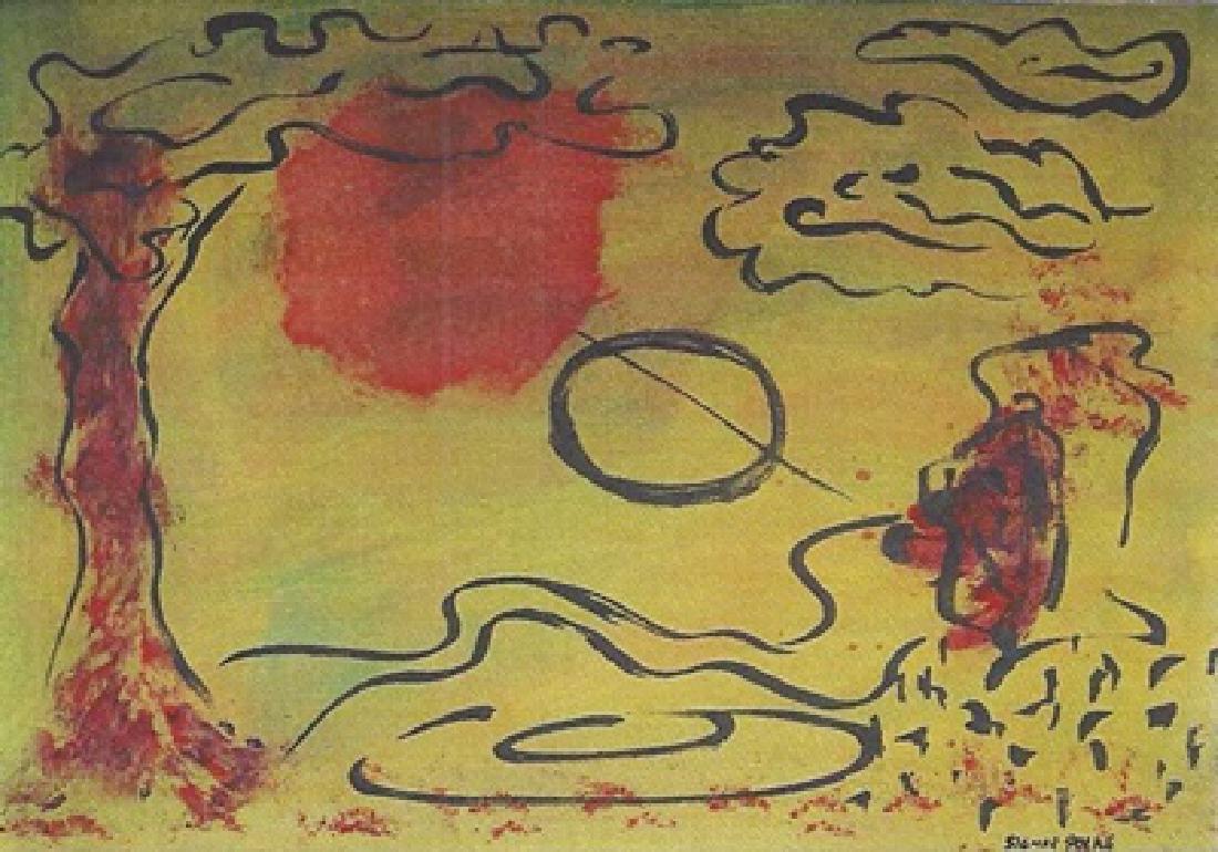 The Garden - Sigmar Polke - Oil On Paper
