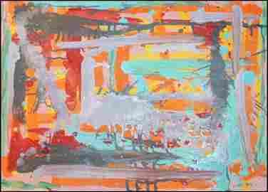 Composition - John Peart - Oil On Canvas