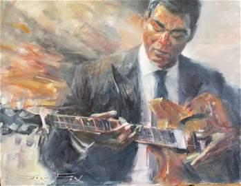 Electric blues - Oil on Canvas - Jorn Fox