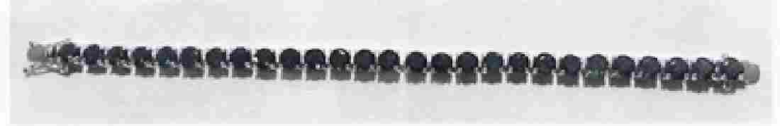 Ladys silver lab tourmaline bracelet
