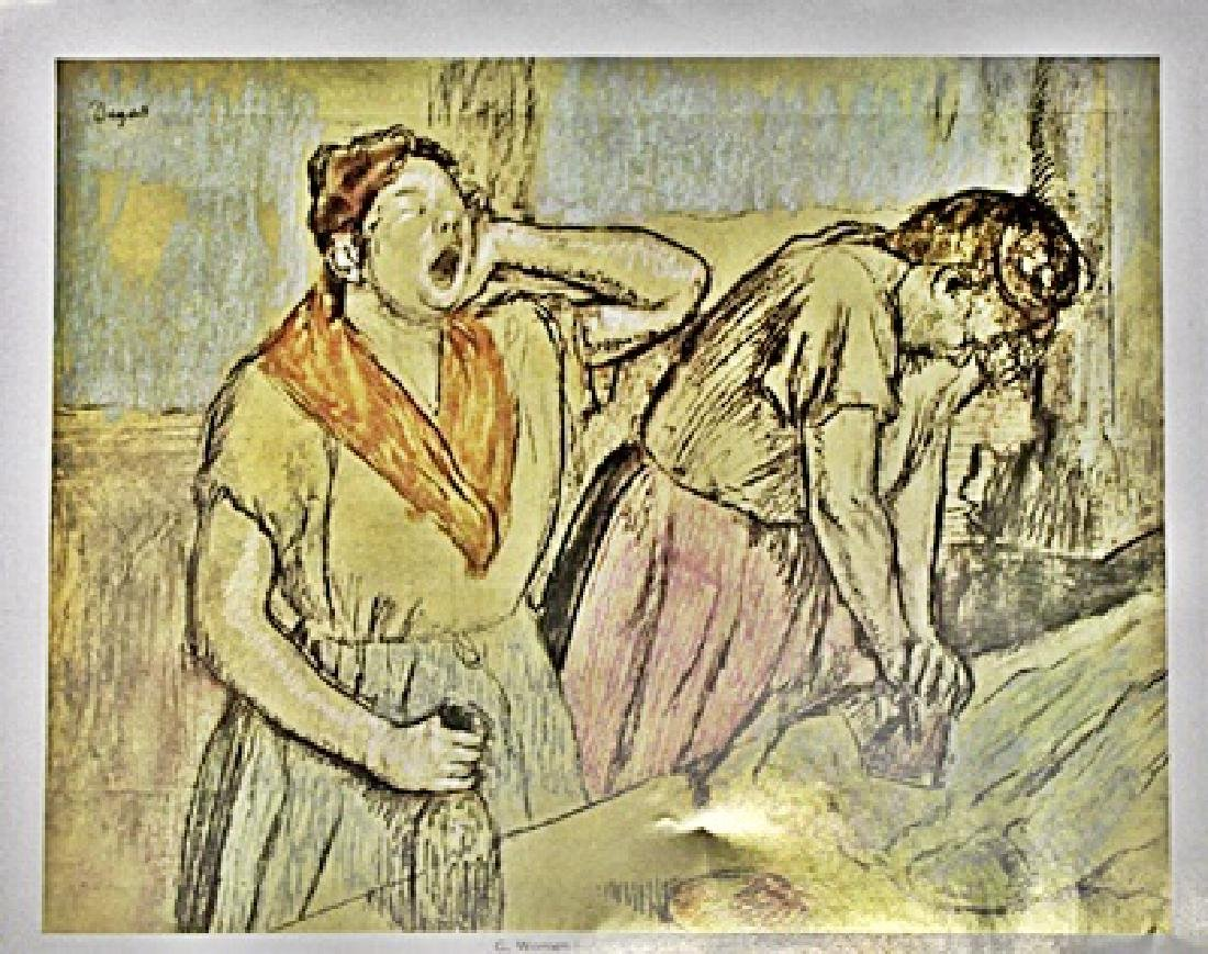 Edgar Degas Color Lithograph Drawing