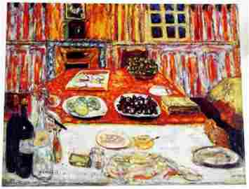 Bonnard - Interior: Dining Room - Lithograph
