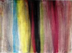 Morris Louis - Oil On Paper