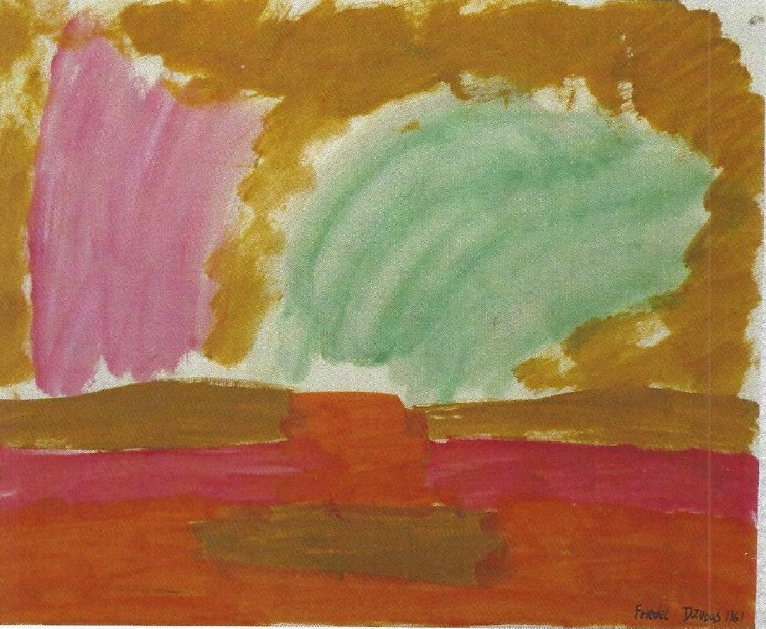 Penumbra - Friedel Dzubas - Oil On Paper