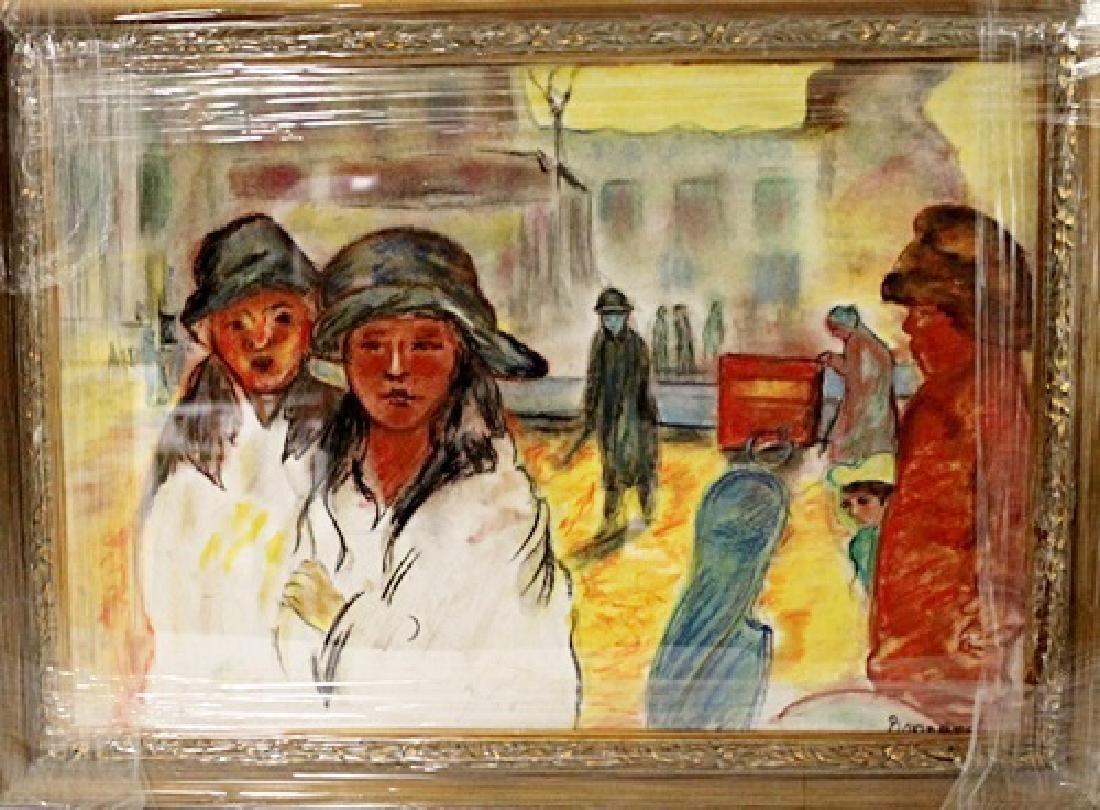 Pierre Bonnard - Two Womans - Pastel on paper