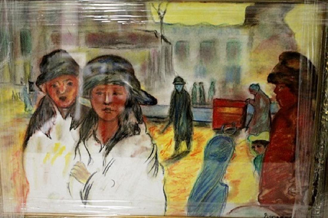 Pierre Bonnard - Two Womans - Pastel on paper - 2