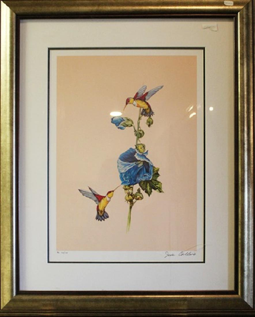 "Framed Lithograph ""Hummingbirds"" - Jim Collins"