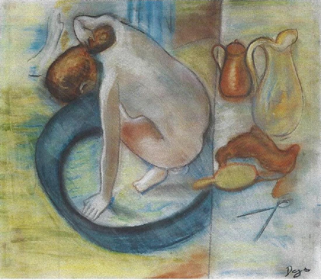 The Tub - Edgar Degas - Pastel On paper