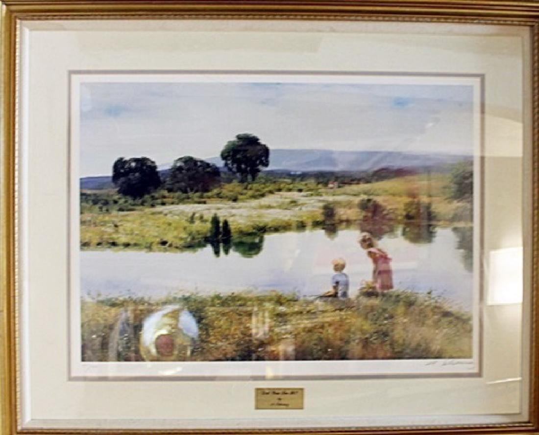 "Framed Lithograph ""Did You See It?"" A. Sehring"