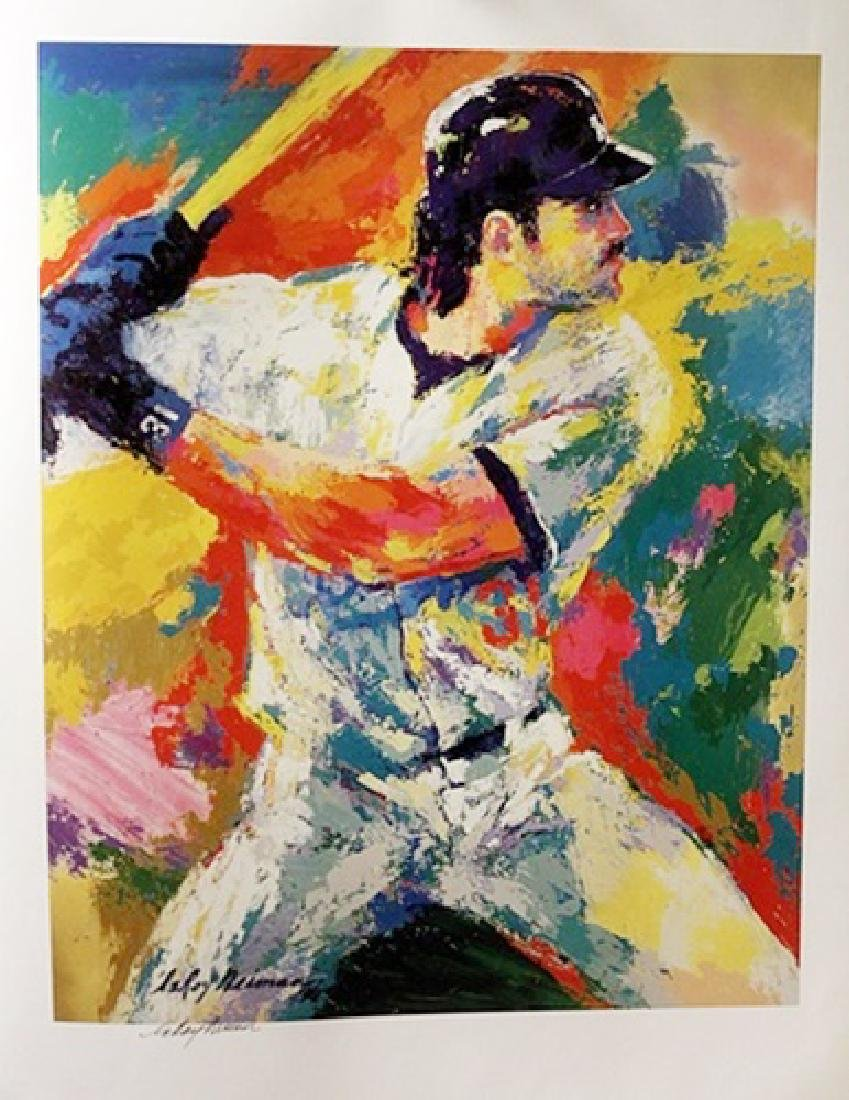 Mike Piazza - LeRoy Neiman - Double Signed Lithograph