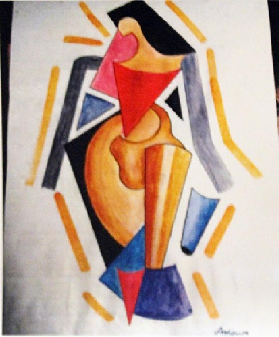 Alexander Archipenko Watercolor - Woman