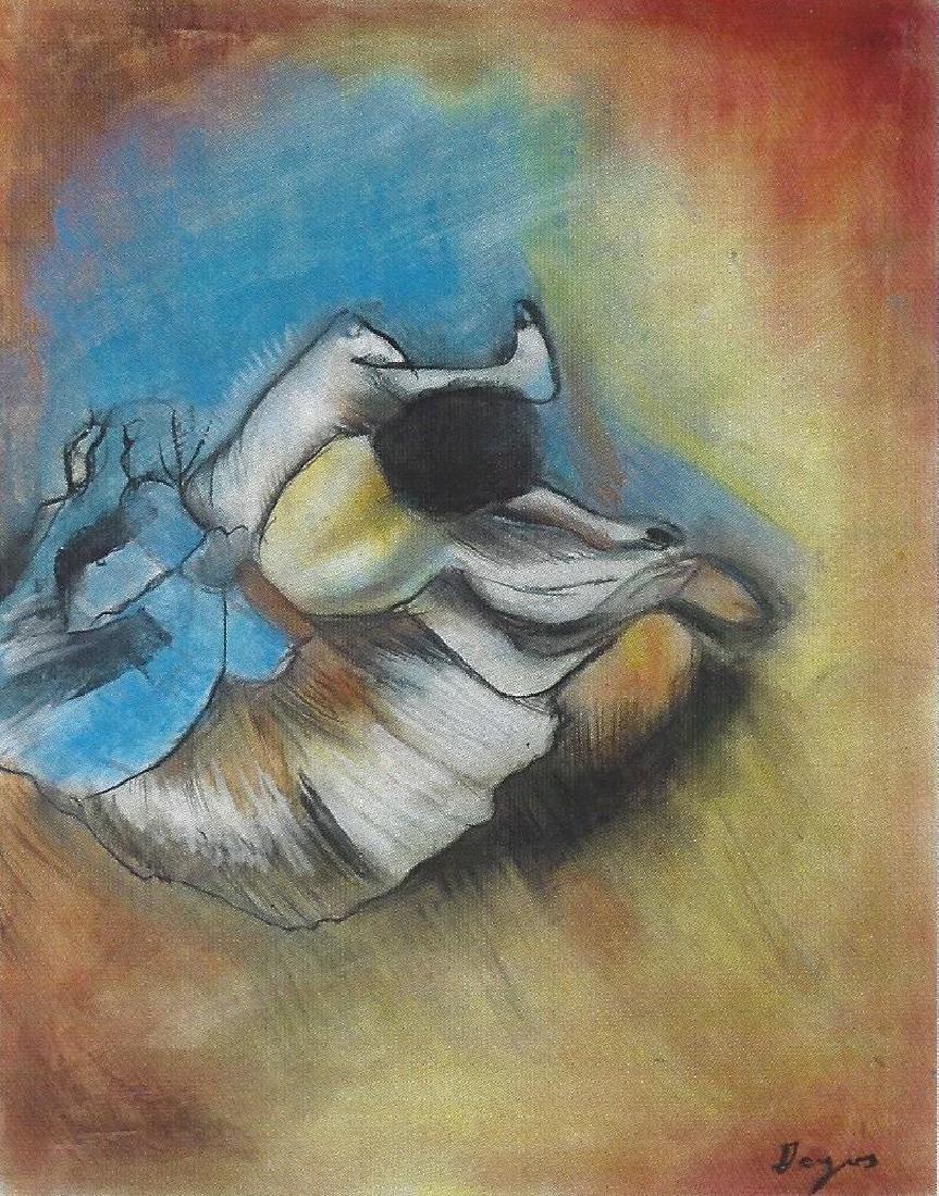 The Dancer - Edgar Degas - Pastel On paper