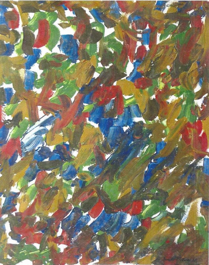 Composition - Joan Mitchell - Oil On Paper