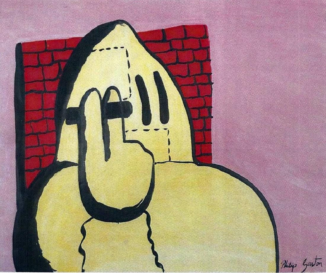 Philip Guston - Oil On Paper