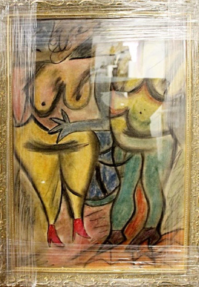 Willem De Kooning - Two Woman I - Pastel on paper