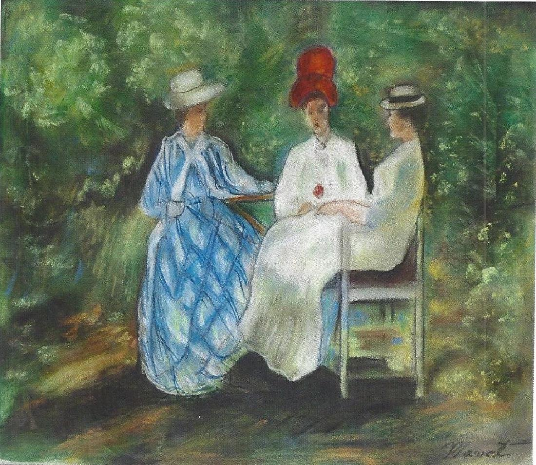 The Conversation - Edouard Manet - Pastel On Paper